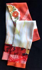 Kimono silks scarf in Autumn tones