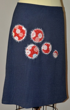 Japanese cotton and embroidery dresses up this skirt