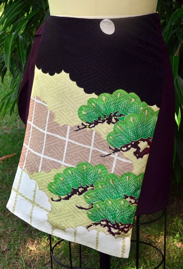 Wrap skirt with Kimono panel feature